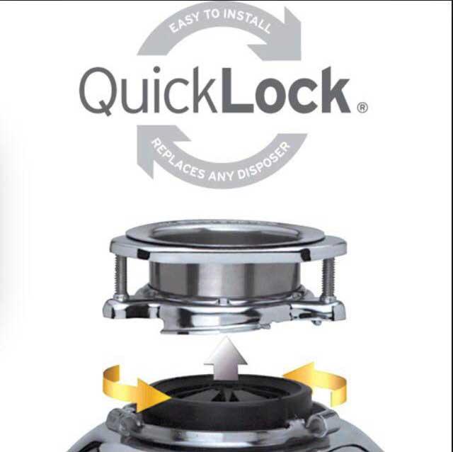 نصب آسان دستگاه زباله خردکن با QuickLock