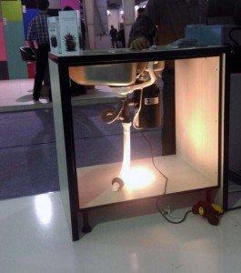 حضور مدرن کیچنز در نمایشگاه بهمراه الگوی نصب دستگاه زباله خرد کن